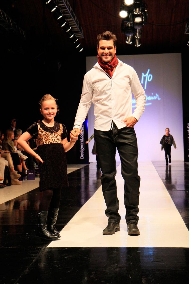 Hernan Drago e hija Desfile Little Mo y Maureene Dinar