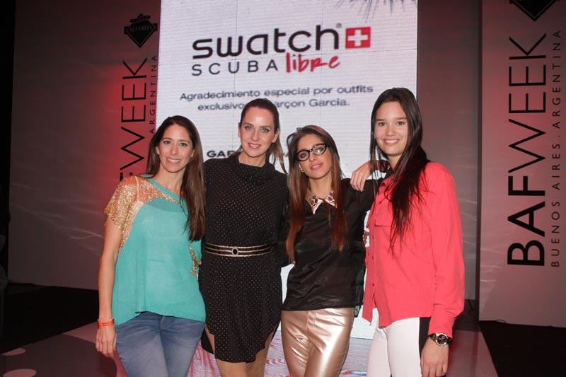 Laura Novoa, Florencia Ortiz, Gabriela Sari y Manuela Viale
