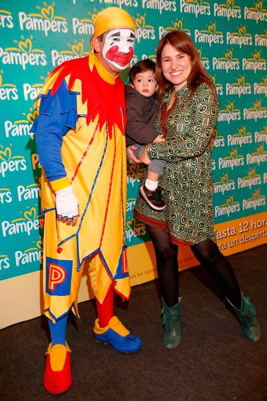 Fernanda Iglesias con su sobrino